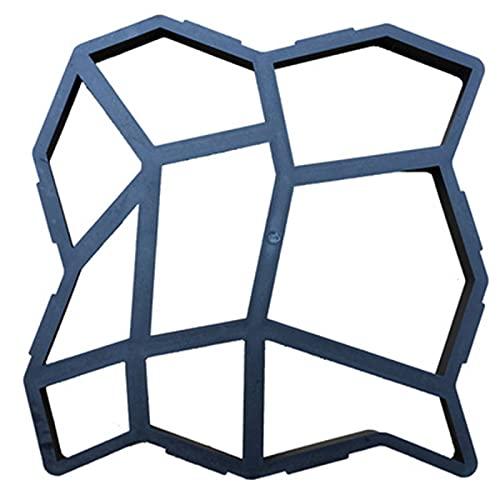Molde de Yeso de JardíN de Azulejos de Cemento, Modelo de Piso de PláStico para Bricolaje Caminos de JardíN, Pasarelas de CéSped de Patio, Yeso de Suelo de Patio