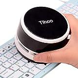 Tihoo Keyboard Vacuum Cleaner Office Desktop Eraser Shaving Dinner Table Counter Vacuum Crumb Collector for Mom/Student/Women Black