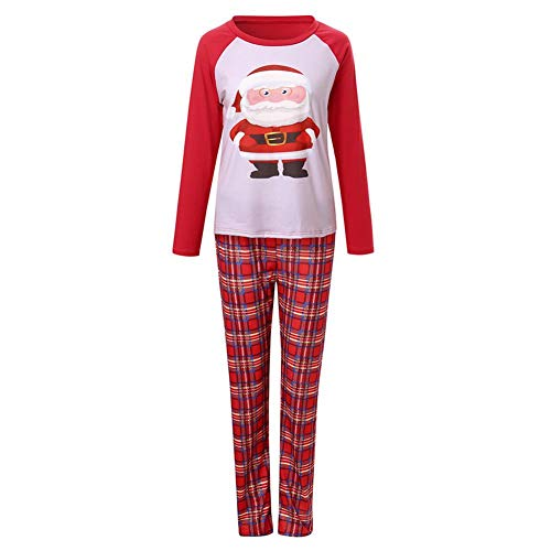 Ahomi Home Style 2psc ouders kind Kerstmis pyjama's set tops + broek (Mom XL)