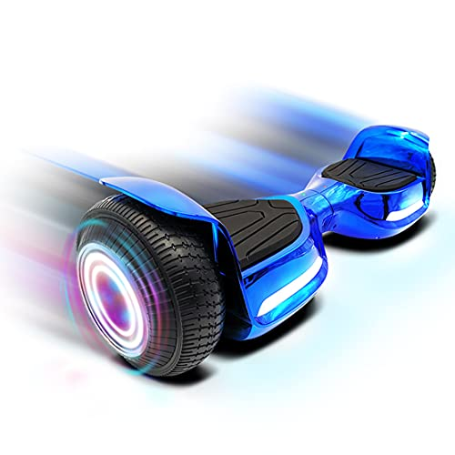 Rawrr Hoverboard for Kids and Adults with Bluetooth Speaker and LED Lights, Electric Self Balancing Scooters Hoverboards for girls and boys with Advanced Safety Features, Attractive Transforming Color