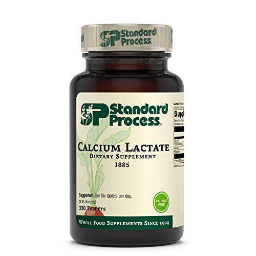 Standard Process Calcium Lactate - Immune Support and Bone Strength - Bone Health and Muscle Supplement with Magnesium and Calcium - 330 Tablets
