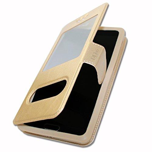 Ph26 - Custodia a Portafoglio per ASUS ZENFONE 2 Laser ZE600KL, Colore: Oro