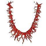 Corales de Cerdeña, collar de coral rojo Cerdeña con flecos 22/60 mm. Longitud 60 cm. Peso 109 g. Cierre dorado