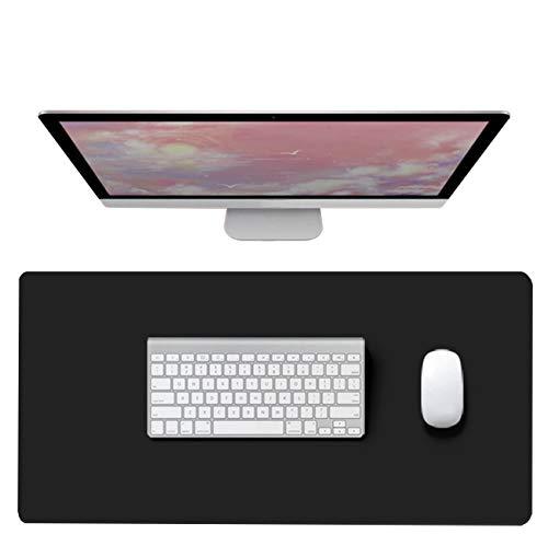 CIEEIN CIEHT Tapis de Souris Bureau Tapis de Portable Tapis de Bureau Mat Tapis de Souris en Cuir PU Noir 30x60cm