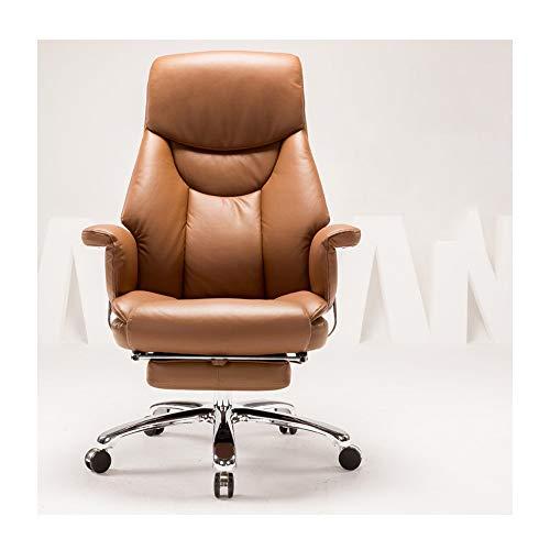 HOLPPO-Desk Silla de Oficina Silla de Ordenador 130 ° Inclinación Diseño Boss Silla sofá Suave Apoyabrazos Doble Respaldo imitación cojín de Cuero Que soportan el Peso de 150kg sillas de Escritorio