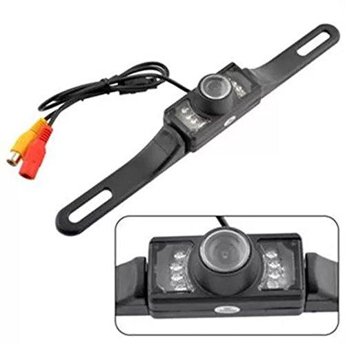 Fomccu Voiture Caméra de recul haute définition Large Angle universel étanche avec 7 LED infrarouges de vision de nuit