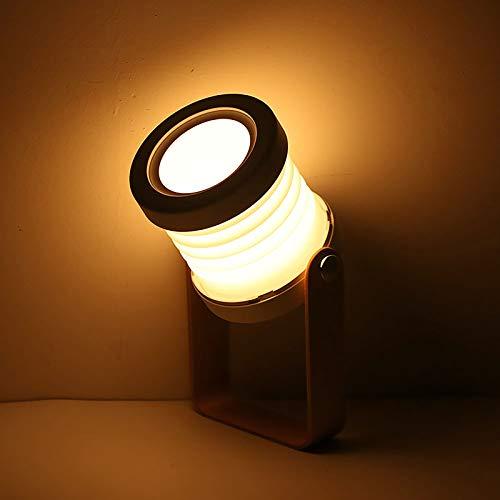 Wovatech Luz de mesa de escritorio - Luz de noche plegable portátil...