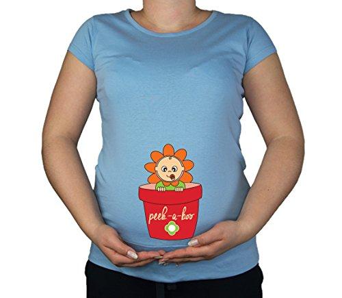 Maternité Grossesse Taille 10–20 Fleur de Coton bébé Peek a Boo T-Shirt Top Tunique Imprimé - - XL