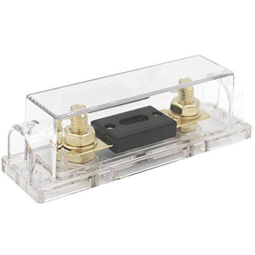 Heschen - Portafusibles ANL de coche (calibre 0 2 4) para audio/vídeo estéreo con fusible ANL con entrada y salida de 200 A