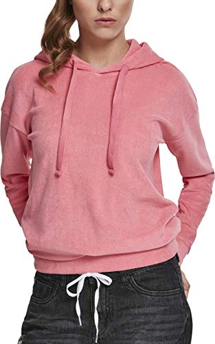 Urban Classics Ladies Towel Hoody Sweat-Shirt À Capuche, Rose (Pink Grapefruit 01708), Small Femme