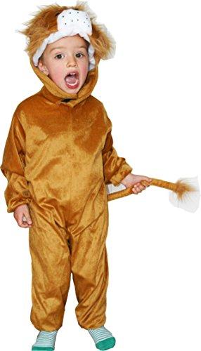 Fun Play Lion Costume pour Les Enfants - Grenouillère Enfant - Costume Lion Animal pour garçons et Filles -Costumes pour Les Medium 3-5 Ans (110 CM)