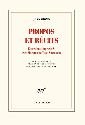 Propos et récits: Entretiens improvisés avec Marguerite Taos Amrouche