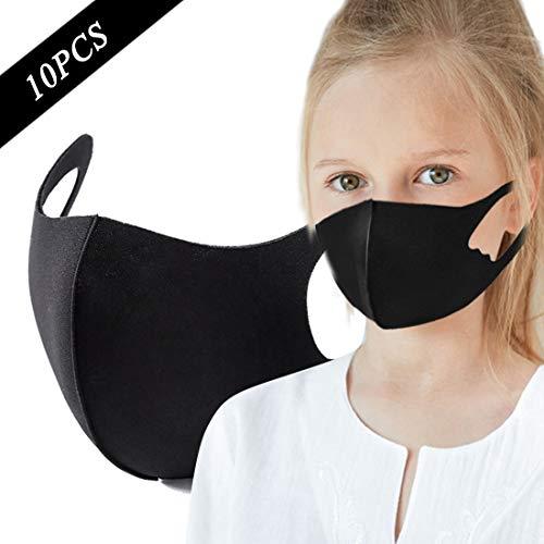 DRAKE18 Waschbare Anti-Staub-Gesichtsabdeckung Atmungsaktiver hautfreundlicher Mundschutz Gegen Pollen Fog Pollution Protection Tool Tägliche Aktivität im Freien 10 STÜCKE,Kids