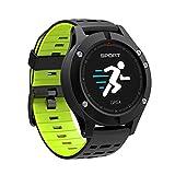 スマートスポーツウォッチ、心拍数モニタリング、体温のリアルタイム測定、スポーツブレスレット歩数計、スマートリマインダー、GPSポジショニング,Green