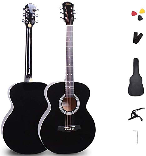 Guitarra eléctrica Guitarra acústica for principiantes mismo tamaño de 41 pulgadas de...