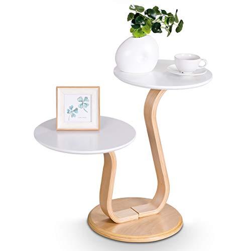 COSTWAY Tavolino da Salotto Moderno, Tavolino da caffè, Tavolo da Soggiorno, 60 x 35 x 55 cm