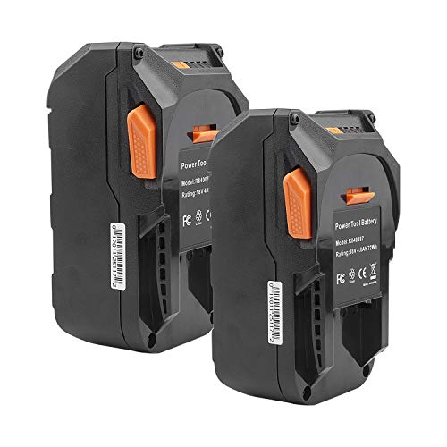 2Pack 18V Lithium Ion Replacement Battery for RIDGID 18V Cordless Drill Tools Battery R840083 R840084 R840085 R840086 R840087 R840095 R86092 AC840087P