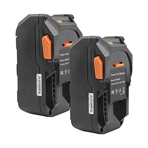 ARyee Li-Ion Replacement Battery for Ridgid R840087 R840085 R840083 High Capacity 18 Volt 4000mAh (2)