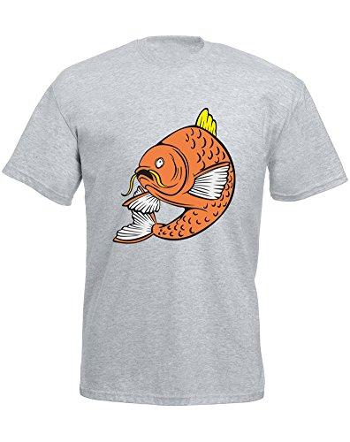Brand88–Carpa Pescado, para Hombre Impreso Camiseta