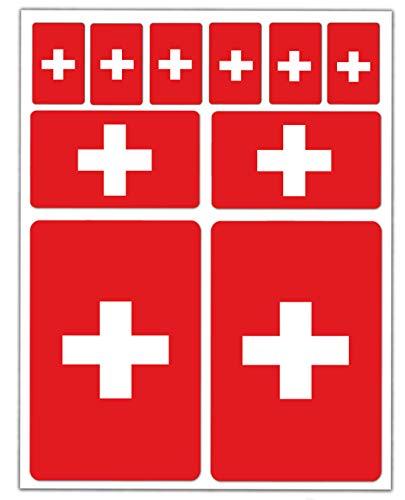 10 x vinyl sticker autosticker stickers vlag Zwitserland Zwitserland Switzerland Zwitserland Swiss Auto Moto Motorfiets Scooter venster D 23