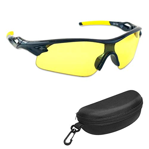 iLumen8 Best Shooting Glasses UV Blacklight Flashlight Yellow Safety Eye Protection See Dog Cat Urine with Amber Black Lights Night Vision Ultraviolet (Yellow, 1 Pair)