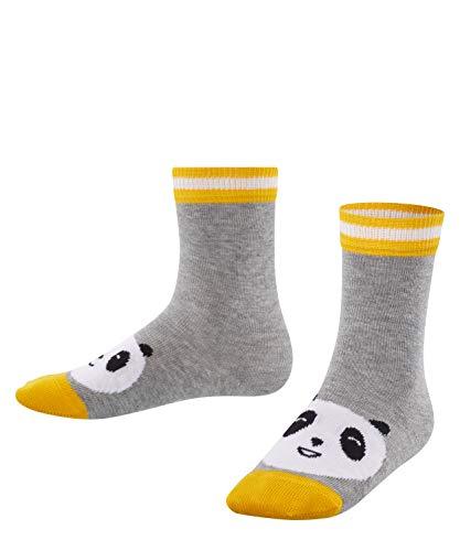 FALKE Kinder Socken Panda Kids - 81% Baumwolle, 1 Paar, Grau (Light Grey 3400), Größe: 23-26