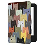 Huasiru Pintura Caso Funda para el Nuevo Kindle (10ª generación - Modelo 2019 - no es aplicable a Kindle Paperwhite o Kindle Oasis) Case Cover, Gatos