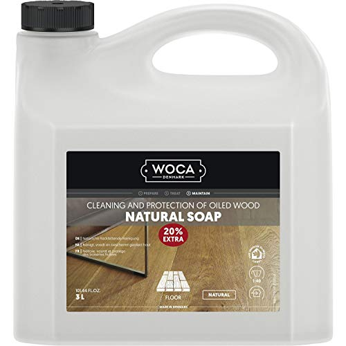 WOCA 511030A Holzbodenseife Natur 3 Liter