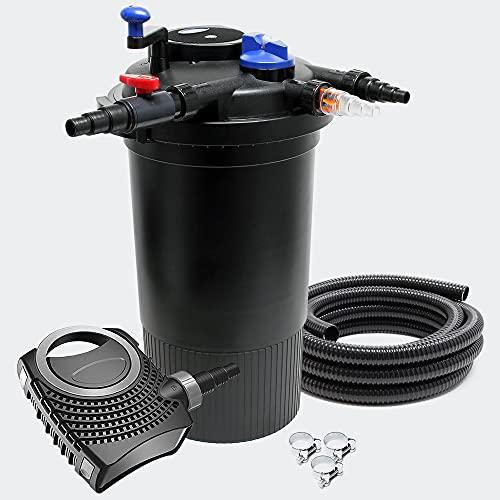 SunSun CPF-15000 Set 30000l 18W UVC NEO3800 Bomba Manguera Set de Filtro para Estanque