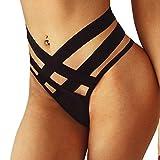 Damas Sexy Ropa Interior de Tiras Desnuda Ropa Interior provocativa Sexy Negro erótico Mujer XL riou