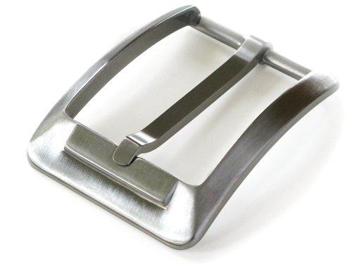 Nickel Smart Hebilla de titanio para hombre – níquel inteligente – 13⁄8 pulgadas sin níquel hebilla de cinturón con acabado satinado cepillado