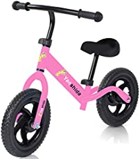 Baby Balance Bike 2,3,4,5 Years Old, No-Pedal Learning Bike Riding Toys for Boys & Girls with Adjustable Handlebar & Seat Height