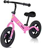 Kids Balance Bike, Lightweight No Pedal Bicycle for 2-6 Years Old Boys & Girls, Balance Bike Toddler Training Bike for Kids, Height Adjustable by Yanshida