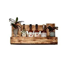 Weinregal Holz Schnapsregal vintage für Küche Hausbar Wandregal rustikal aus Europalette