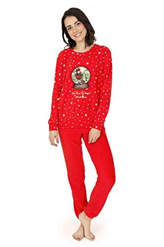 SANTORO GORYUSS - Pijama Santoro Navidad Mujer Mujer Color: Rojo Talla: Medium
