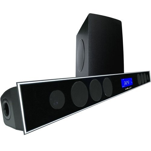 """2.1 Soundbar w 8.0"""" wireless subwoofer and MAXBASS chip by Sound Appeal"""