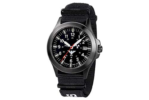 KHS Tactical Watches Black Platoon Titan KHS.BPT.NXT7 Titan IPB Nato XTAC Black
