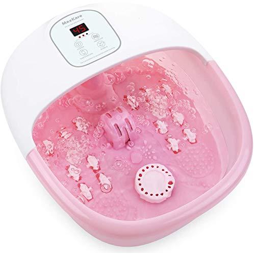 Bañera Para Pies, Hidromasaje de Pies con Masaje de Burbujas y por Vibración, Calentar el Agua Relajación Nerve Decompression Foot Rosa