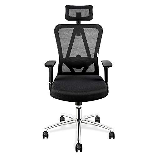 mfavour Bürostühle Ergonomischer Bürostuhl mit Kopfstütze Drehstuhl Computerstuhl Chefsessel,...