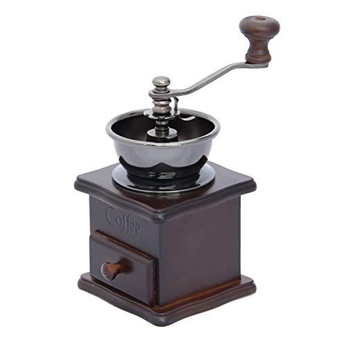 WangLx grinder Młynek do kawy w stylu retro, lite drewno, rdzeń ze stali nierdzewnej, przenośny, ręczny ekspres do kawy, cateringowy gadżet do przypraw, brązowy