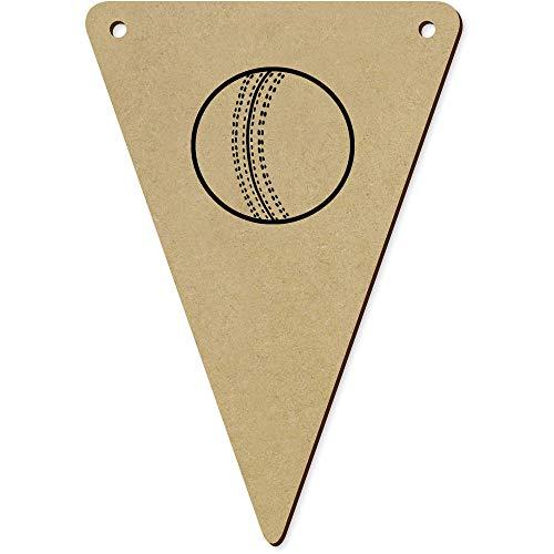 Azeeda 5 x 140mm 'Cricket Ball' Wimpelkette / Girlande (BN00054231)