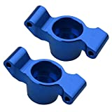 Hobbypark Aluminum Rear Stub Axle Carriers Knuckles (Left & Right), for 1/10 Traxxas Maxx Upgrades, Replacement Parts of 8952 (Navy Blue)