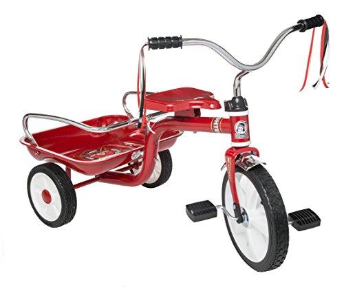 Apache | Triciclo Ride On | para Niños de 3 a 6 Años | Modelo R14 | Color Rojo | Incluye Cajuela…