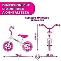 Chicco Pink Comet Bicicletta Bambini Senza Pedali 2-5 Anni, Bici Senza Pedali Balance Bike per l'Equilibrio, con Manubrio e Sellino Regolabili, Max 25 Kg, Rosa, Giochi Bambini 2-5 Anni #2