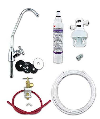 3M Trinkwasserfilter-Set (Bakterienbewerteter Filter) Vollständiges DIY-System mit Wackelfuß Wasserhahn