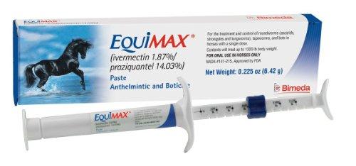 (2 Pack) Bimeda Equimax Horse Wormer Ivermectin 1.87 Percent Praziquantel 14.03 Percent Paste Tube
