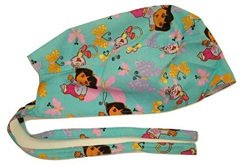 Scrub Hat Cartoon Characters Cotton Fabric Cap Do-Rag Skull Pink