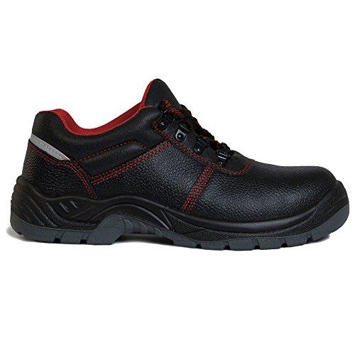 Qualitex S3 Calzatura Antinfortunistica 61961a - Nero/Rosso, 38 EU