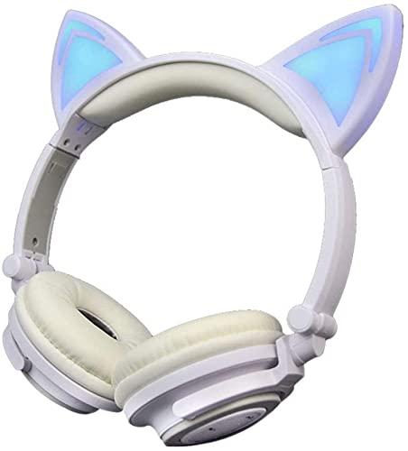 Auriculares Bluetooth recargables Hi-Fi estéreo plegables inalámbricos, inalámbricos y con cable, soporte para llamadas manos libres, auriculares para videojuegos