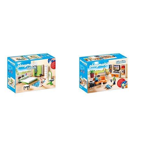 Playmobil 9271 - Schlafzimmer &  9267 - Wohnzimmer